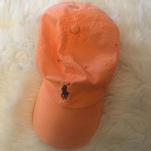 Orange Ralph Lauren polo hat